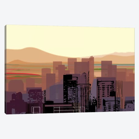 Downtown Desert (Phoenix) (wide) Canvas Print #HRK113} by Charles Harker Canvas Print