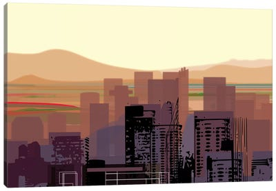 Downtown Desert (Phoenix) (wide) Canvas Art Print