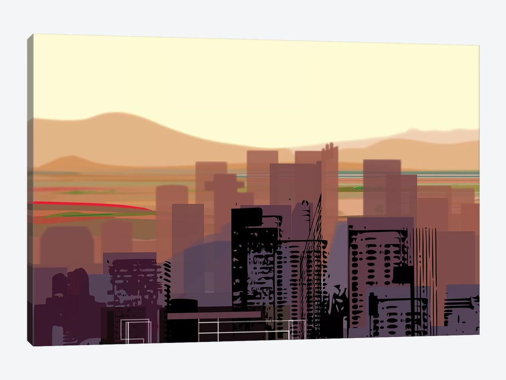 Downtown Desert (Phoenix) (wide) 1-piece Canvas Wall Art