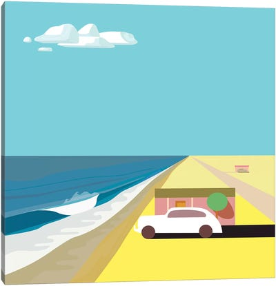 Mar de Cortez - Square Canvas Art Print