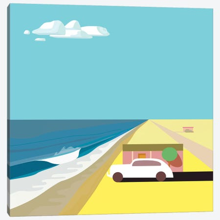 Mar de Cortez - Square Canvas Print #HRK116} by Charles Harker Canvas Artwork