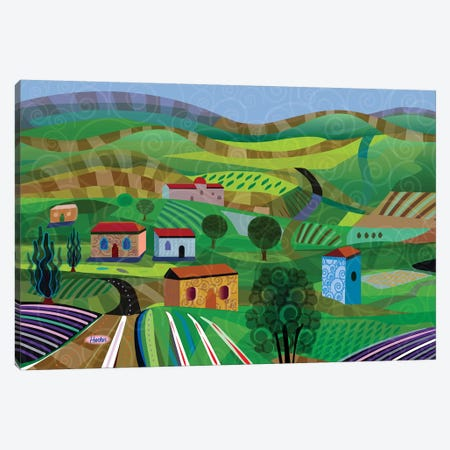 Santa Barbara Wine and Cheese Canvas Print #HRK119} by Charles Harker Canvas Print