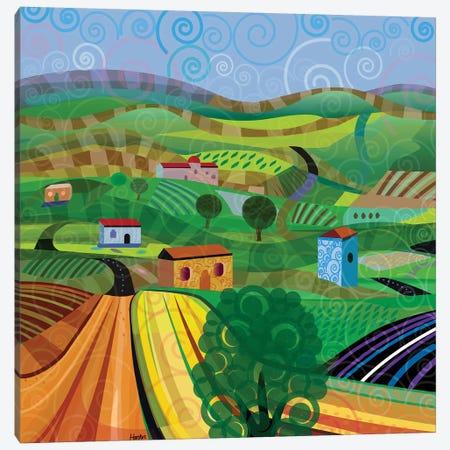 Santa Barbara Wine and Cheese - Square Canvas Print #HRK120} by Charles Harker Canvas Art
