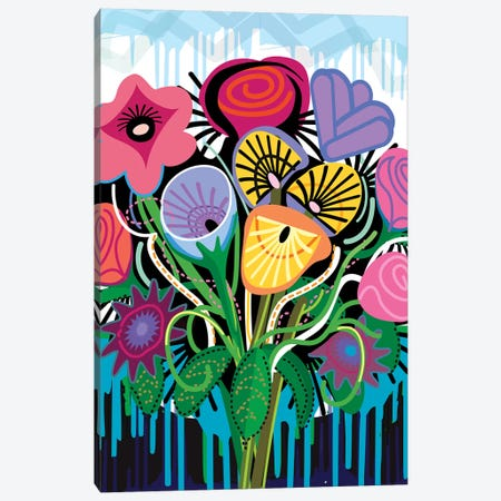 Spanish Flowers Canvas Print #HRK121} by Charles Harker Canvas Art