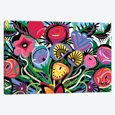 Flowers All Over Canvas Print #HRK124} by Charles Harker Canvas Art Print