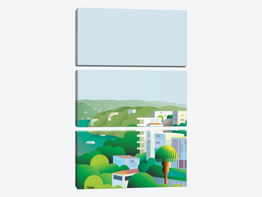 Acapulco Breeze by Charles Harker 3-piece Canvas Art Print