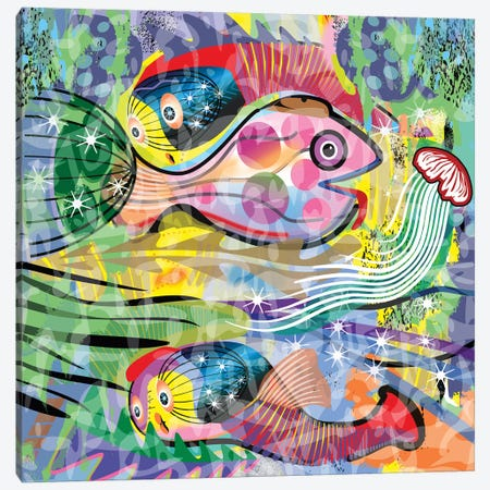 Mariscos Canvas Print #HRK129} by Charles Harker Canvas Artwork