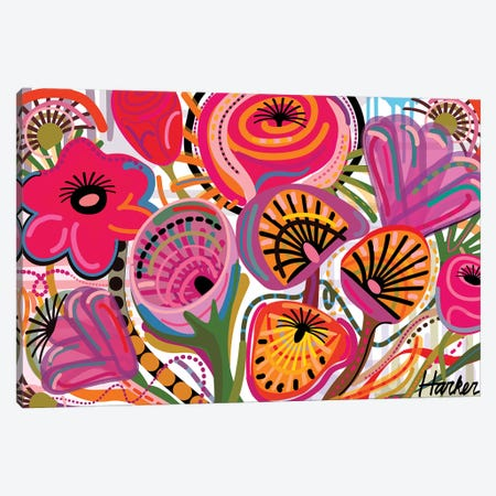Red Flowers  Canvas Print #HRK131} by Charles Harker Canvas Print