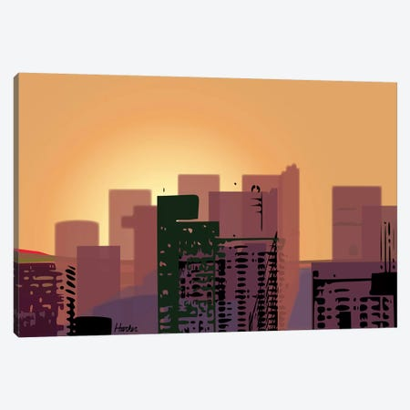 Sunset over San Francisco Canvas Print #HRK132} by Charles Harker Canvas Art Print