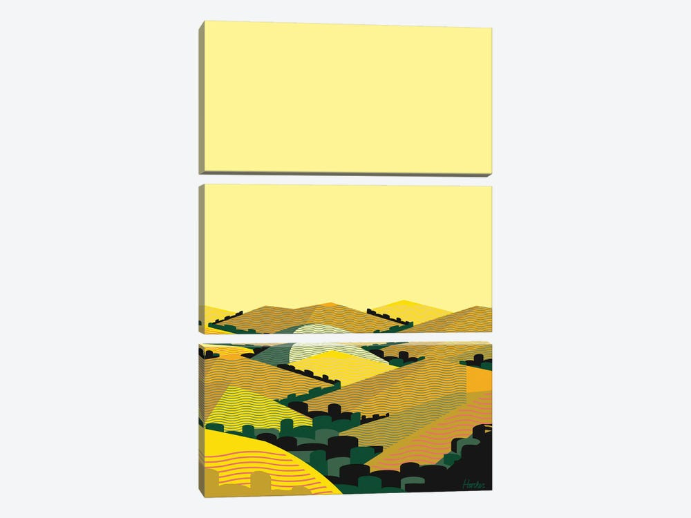 California Hills II by Charles Harker 3-piece Art Print