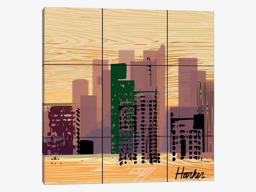 Dallas by Charles Harker 1-piece Canvas Wall Art