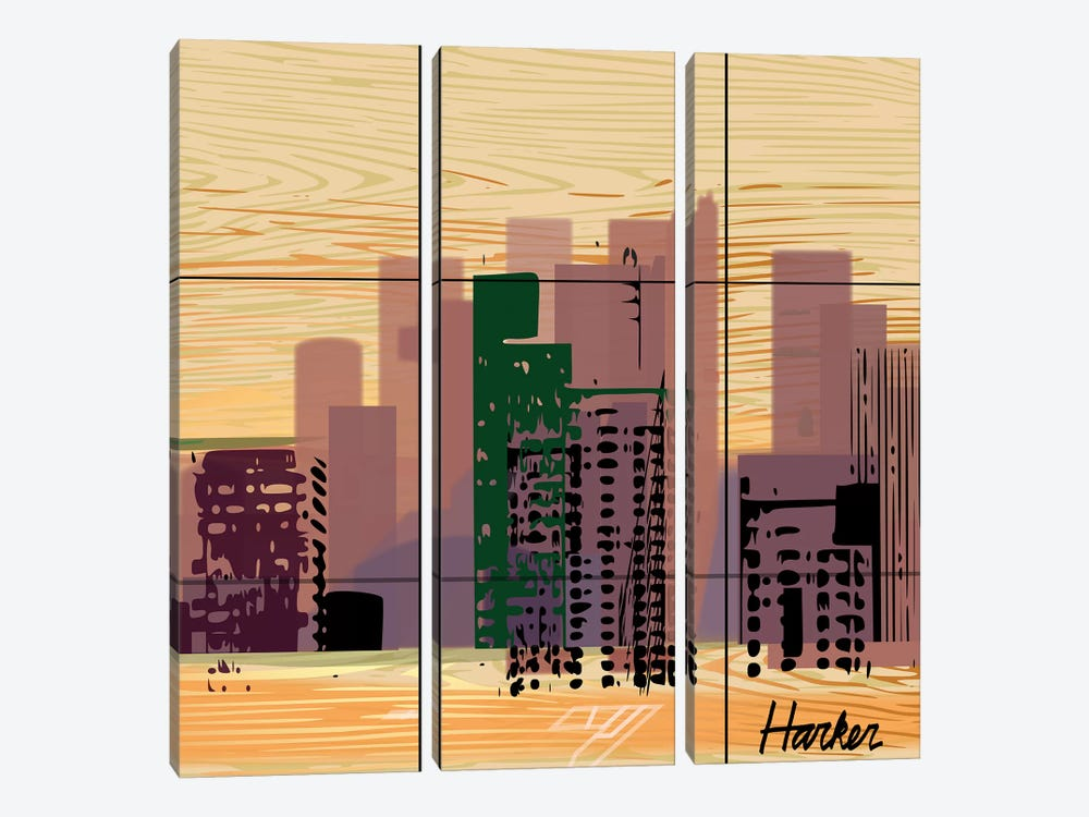 Dallas by Charles Harker 3-piece Canvas Artwork