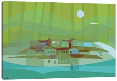 Fishing Village Canvas Art Print