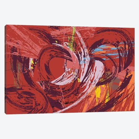 Red Bang I Canvas Print #HRK142} by Charles Harker Canvas Art