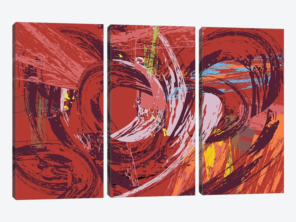 Red Bang I by Charles Harker 3-piece Canvas Art
