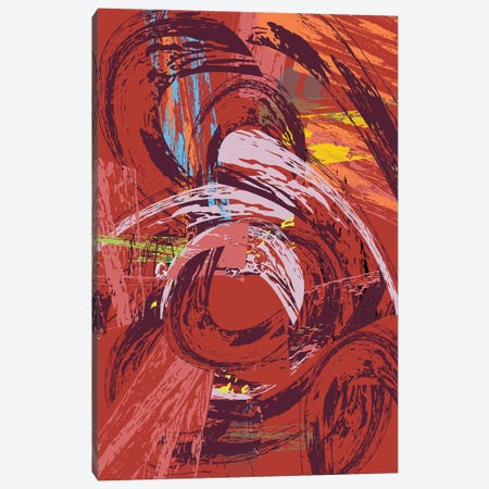 Red Bang II Canvas Print #HRK143} by Charles Harker Canvas Artwork