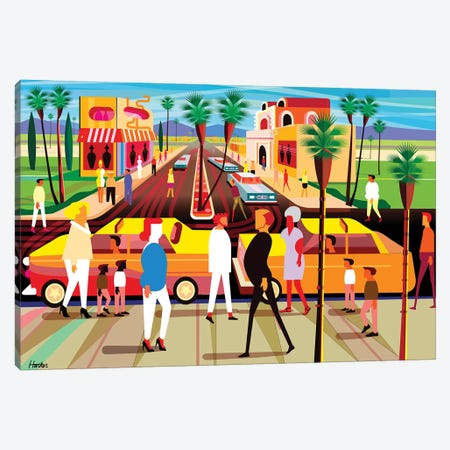 El Paseo Palm Springs Canvas Print #HRK147} by Charles Harker Canvas Print