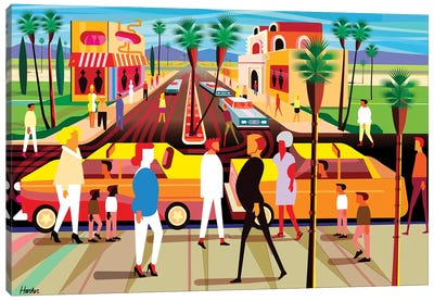 El Paseo Palm Springs Canvas Art Print