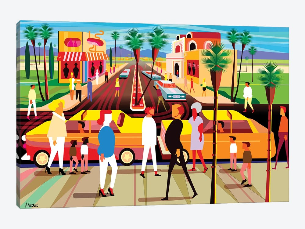 El Paseo Palm Springs by Charles Harker 1-piece Art Print