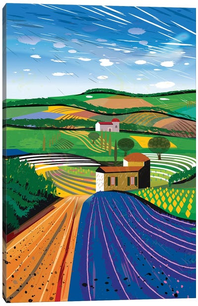 Lavender Farm Canvas Art Print