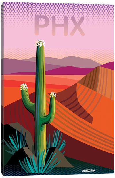 Phoenix Travel Poster II Canvas Art Print
