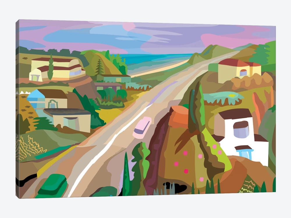 Highway 1 by Charles Harker 1-piece Canvas Artwork