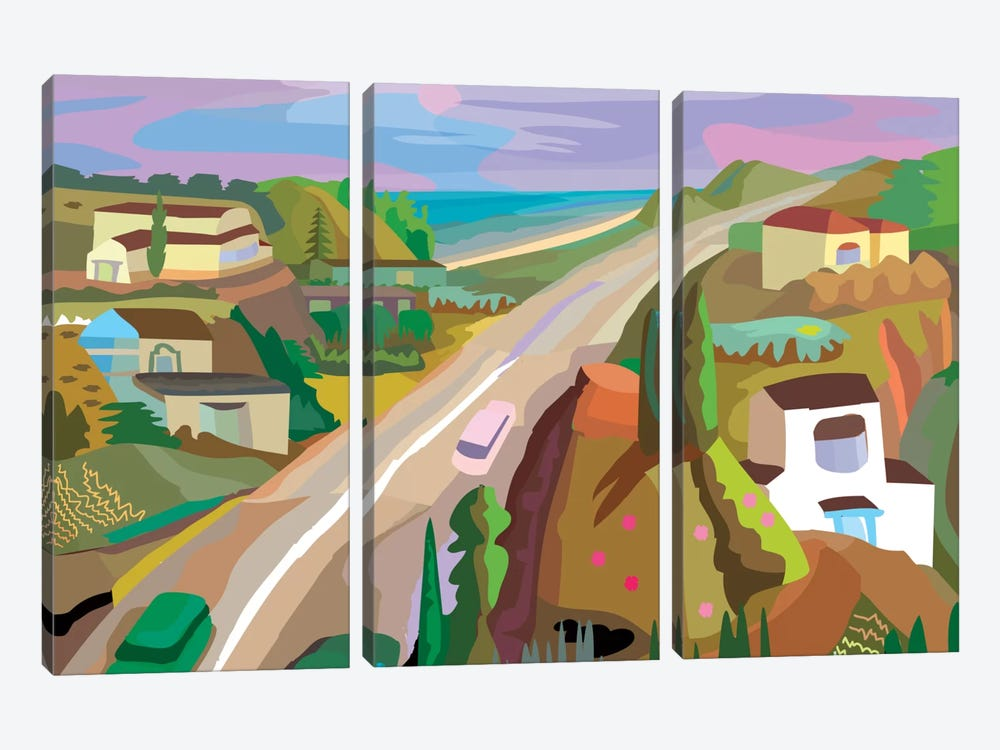 Highway 1 by Charles Harker 3-piece Canvas Artwork