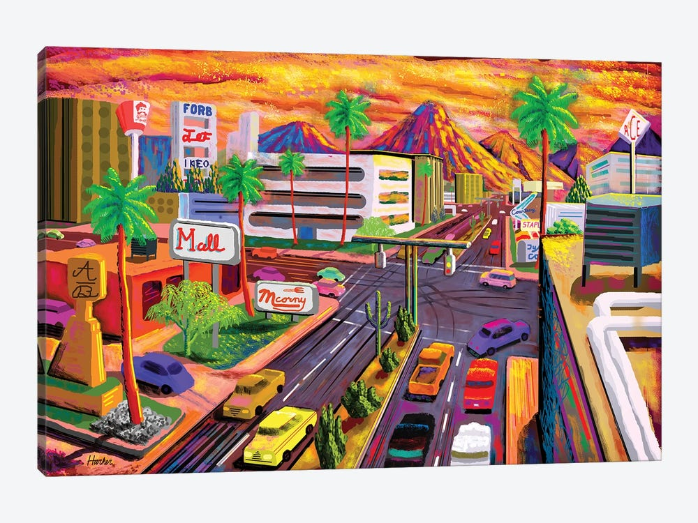 Camelback Road Phoenix  by Charles Harker 1-piece Art Print