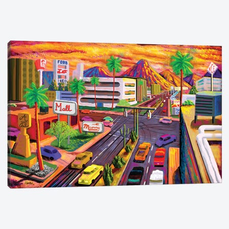Camelback Road Phoenix  Canvas Print #HRK158} by Charles Harker Canvas Art Print