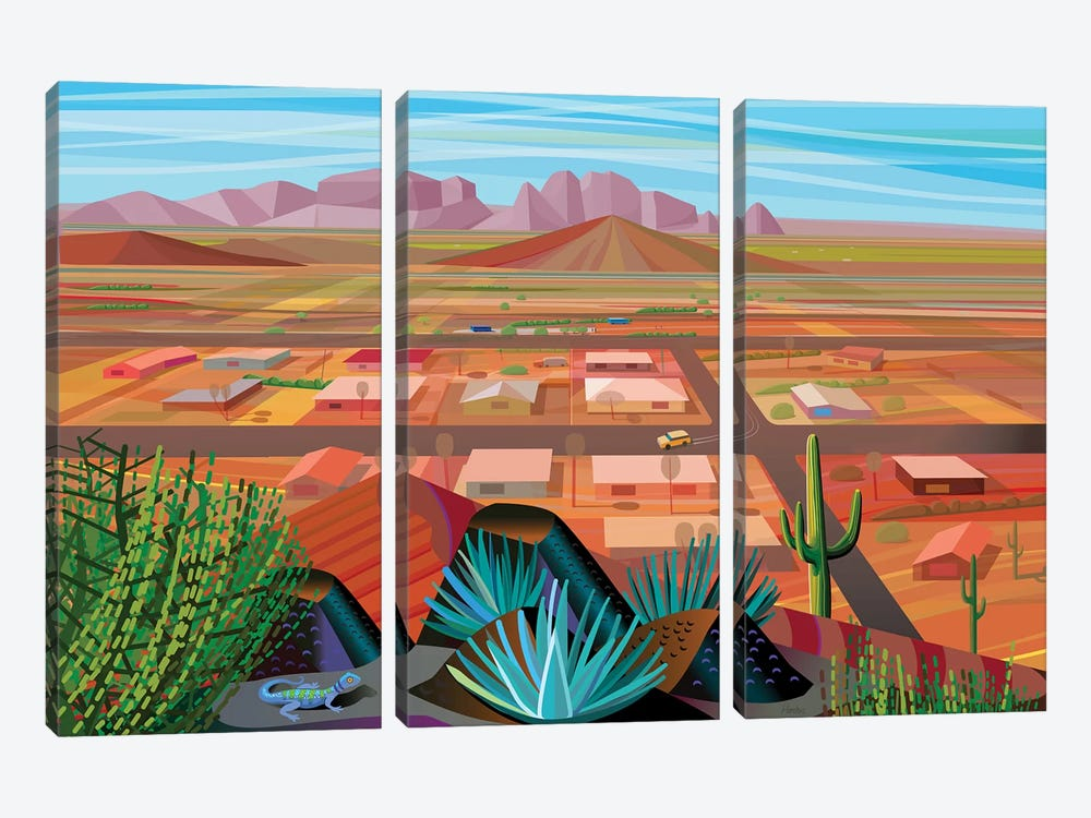 Maricopa County by Charles Harker 3-piece Canvas Wall Art