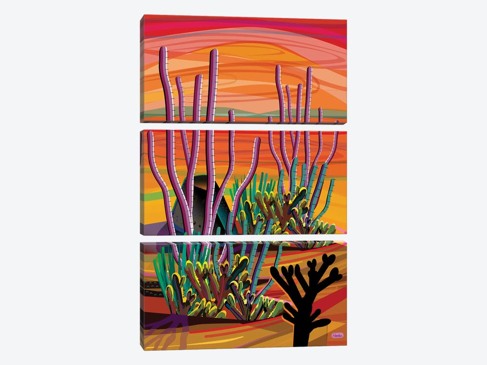Ajo by Charles Harker 3-piece Canvas Wall Art