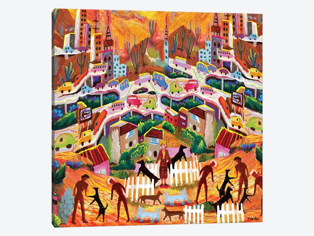 Ambos Nogales by Charles Harker 1-piece Canvas Print