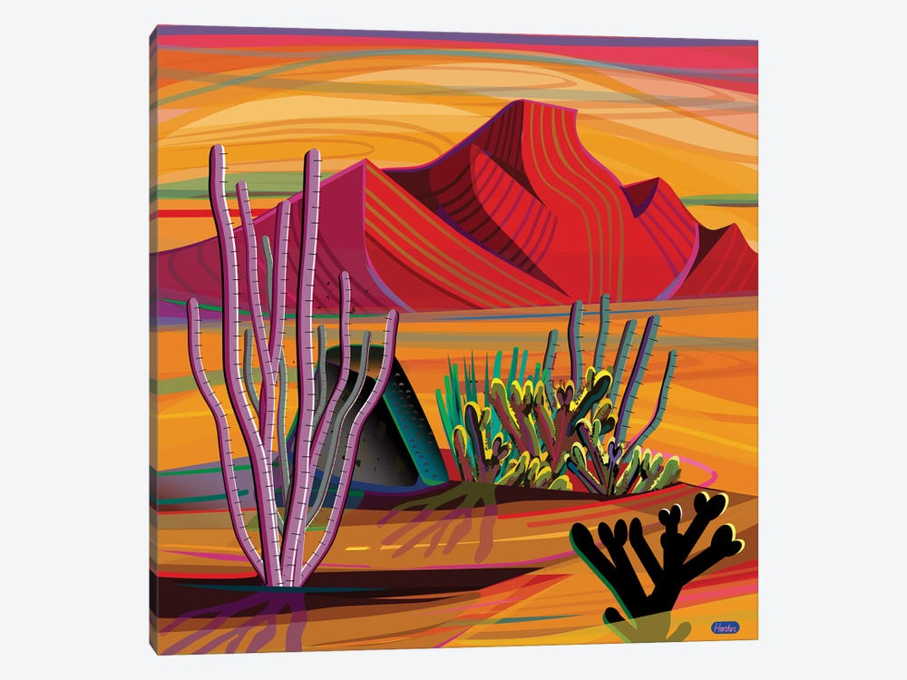 Cactus Garden 1-piece Canvas Print