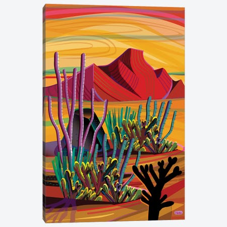 Cactus Oasis Canvas Print #HRK170} by Charles Harker Art Print