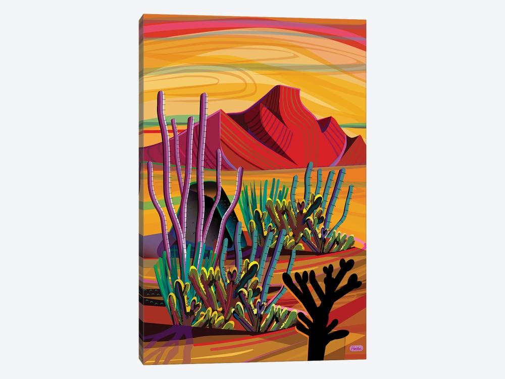 Cactus Oasis by Charles Harker 1-piece Art Print
