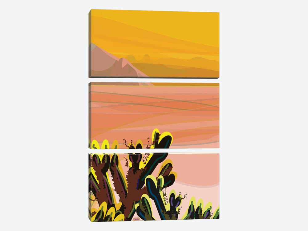Cholla by Charles Harker 3-piece Canvas Wall Art