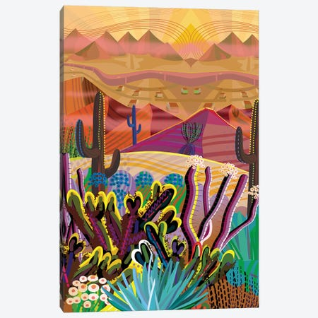 High On A Mountain Top Canvas Print #HRK177} by Charles Harker Canvas Artwork