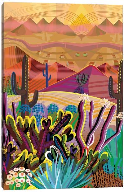 High On A Mountain Top Canvas Art Print