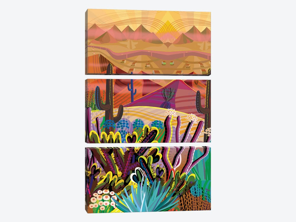 High On A Mountain Top by Charles Harker 3-piece Canvas Artwork