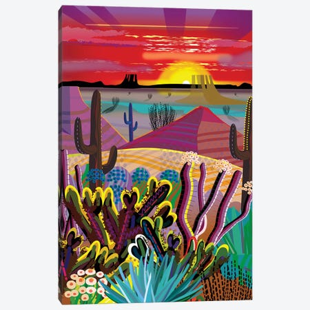 The Desert In Your Mind Canvas Print #HRK178} by Charles Harker Canvas Art Print