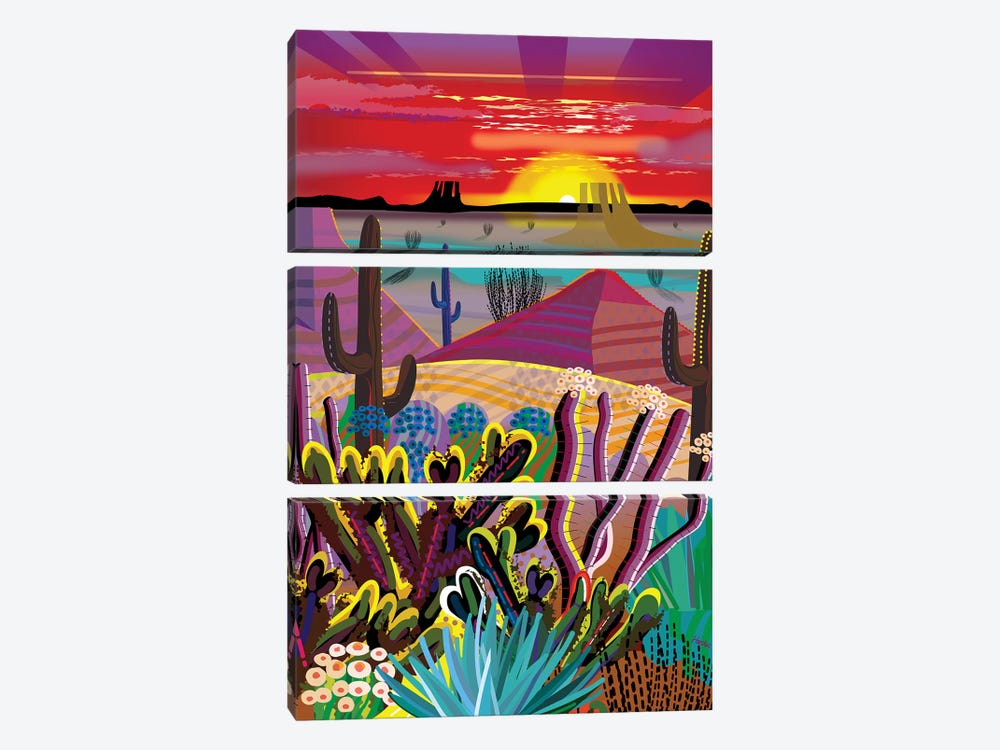 The Desert In Your Mind by Charles Harker 3-piece Canvas Print