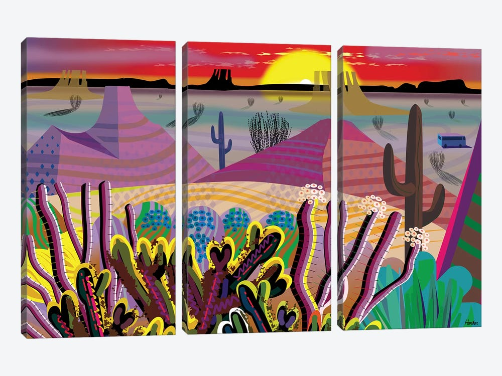 The Desert Within You by Charles Harker 3-piece Canvas Artwork