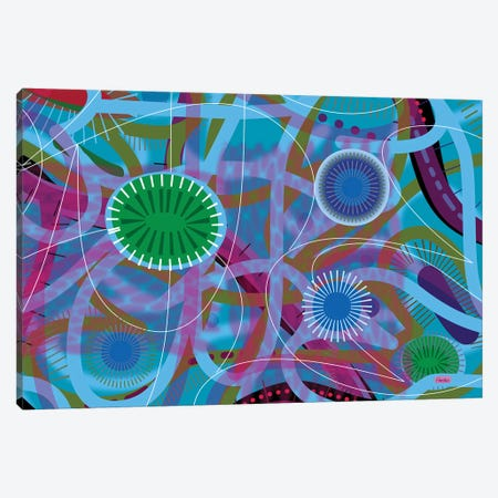 Blue Fire Canvas Print #HRK181} by Charles Harker Canvas Artwork