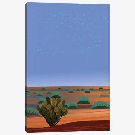 Desert Twilight Canvas Print #HRK182} by Charles Harker Canvas Wall Art