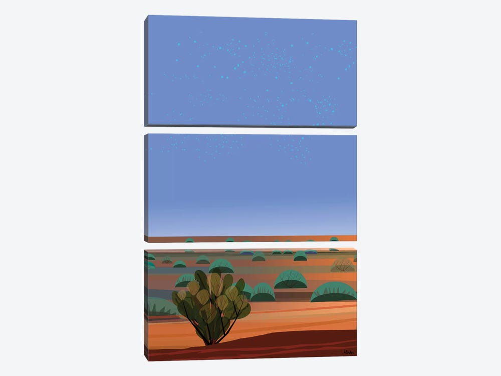 Desert Twilight by Charles Harker 3-piece Canvas Art