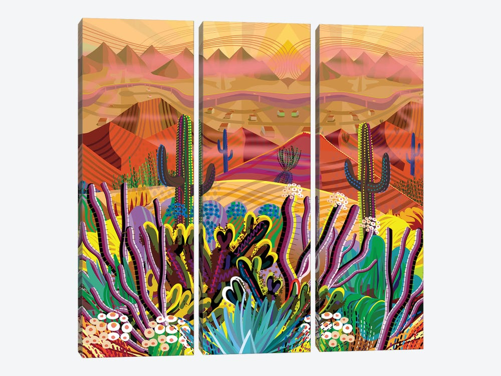 Paradise Valley by Charles Harker 3-piece Canvas Print