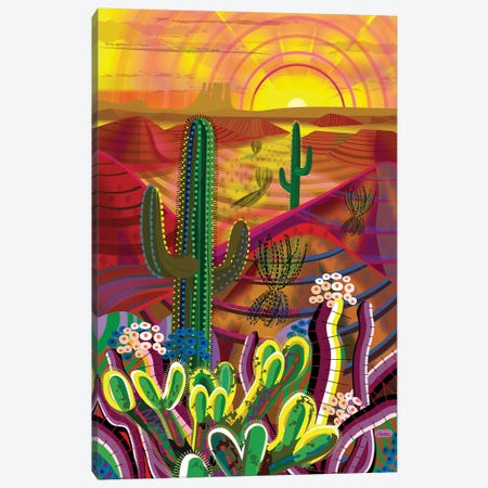 Peyote Dawn Canvas Print #HRK188} by Charles Harker Canvas Artwork