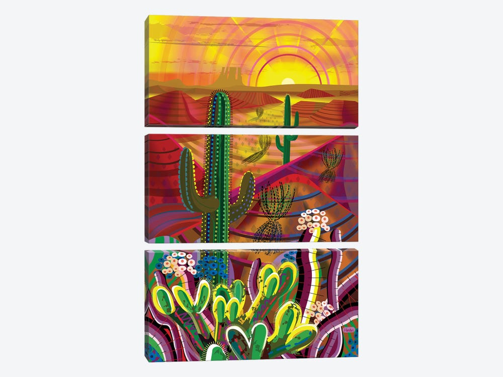 Peyote Dawn by Charles Harker 3-piece Canvas Artwork