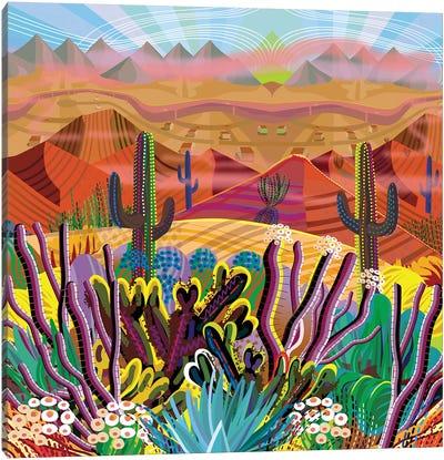 Reaching The Mountain Top Canvas Art Print