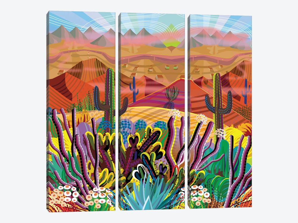Reaching The Mountain Top by Charles Harker 3-piece Canvas Art Print